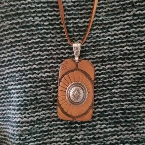 Jewelry - Southwestern Leather Concho Necklace